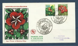 Nouvelle Caledonie 1958  Fdc Yvert 288/289  La Flore D'outremer - Xanthostemon - Hibiscus - New Caledonia