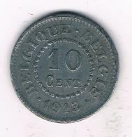 10 CENTIMES 1915  BELGIE /3749/ - 1909-1934: Albert I.