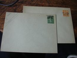 Lot De 2 Entier Postal Enveloppe Taxe Reduite 0 F 10 Sur Marianne Lignee 15 C Et Mouchon 15 C Millesime - Postal Stamped Stationery