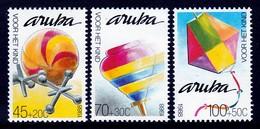 SERIE NEUVE D'ARUBA - BALLON, TOUPIE ET CERF-VOLANT (AU PROFIT DE L'ENFANCE) Y&T N° 51 A 53 - Kind & Jugend