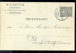 Vroomschoop - Kunstmest Graanhandel H D Kotter - 1914 - 1891-1948 (Wilhelmine)