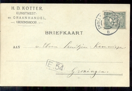 Vroomschoop - Kunstmest Graanhandel H D Kotter - 1914 - Lettres & Documents