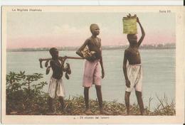 LA NIGRIZIA-MISSIONI DELL'AFRICA CENTRALE -DI RITORNO DAL LAVORO -FP - Missioni