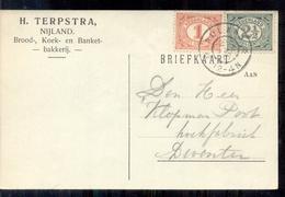 Nijland - Terpstra Brood Koek Banket Bakkerij - 1917 - Lettres & Documents