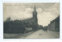 Havelange Eglise Et Ecole Des Filles  ( Passed By CENSOR ) Feldpost - Havelange