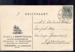 Terwispel Gorredijk - Fa A P V D Werff Zonen Scheepbouw 1927 - 1891-1948 (Wilhelmine)