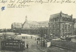AK / CPA Tourcoing La Gare + Tramway 1915 Feldpost + Kriegslazarett #01 - Tourcoing