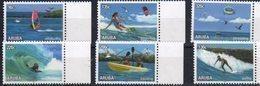 ARUBA, 2018, MNH, BIRDS, WATER SPORTS, WINDSURFING, SURFING, KAYAKING, PARASAILING, KITESURFING, 6v - Water-skiing