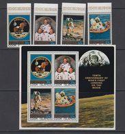 Cook Islands 1979 Apollo 11 / Space / Moon 4v + M/s ** Mnh (42567) - Cookeilanden
