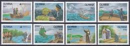 Guyana 1990 Transport Schiffe Ships Segelschiffe Sailships Seefahrt Seafare Kolumbus Columbus, Aus Mi. 3765-6 ** - Guyane (1966-...)