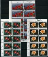 Luxemburg 10er Bogenteile MiNr. 1411-13 Gestempelt Pflanzen (GF7785 - Luxembourg