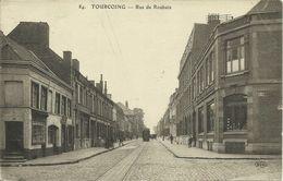 AK / CPA Tourcoing Rue De Roubaix + Tramway 1915 Feldpost #03 - Tourcoing