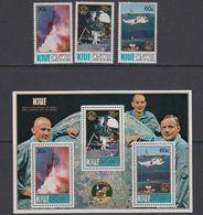 Niue 1979 Moon Landing 3v + M/s ** Mnh (42568) - Niue