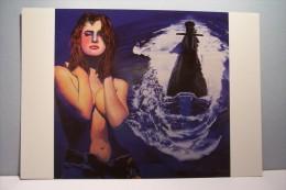 JEAN-PIERRE  GIACOBAZZI   ( Illustrateur )  -- BLEU- MARINE  - BATEAU - SOUS -MARIN - NU - - Sous-marins