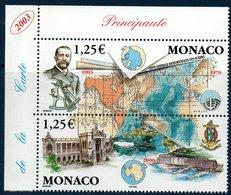 MON 2003 Centenaire De La GEBCO  N° YT 2391-2392  Coin De Feuille - Monaco