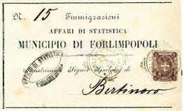 ITALY 1898 Enveloppe IMMIGRAZIONIBARGAIN.!! - Italië