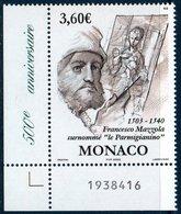 MON 2003 Peintre Francesco Mazzola   N° YT 2402  Coin De Feuille - Monaco