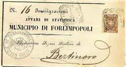 ITALY 1899 Enveloppe IMMIGRAZIONI.BARGAIN.!! - Italië