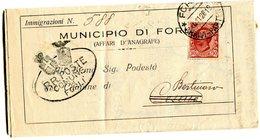 ITALY 1928 Enveloppe IMMIGRAZIONI.BARGAIN.!! - Italië
