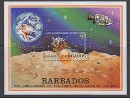 Barbados 1979 Space / Moon Landing M/s ** Mnh (42569) - Barbados (1966-...)