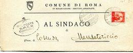 ITALI 1950 Enveloppe COMUNE DI ROMA.BARGAIN.!! - Andere