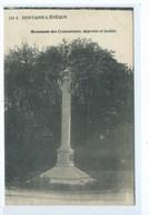 Fontaine L'Evêque Monument Des Combattants Et Des Fusillés ( Très Rare ) - Fontaine-l'Evêque