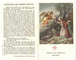 SOUVENIR GETHSEMANI JERUSAEM Double Reliquia Feuille Jardin IMAGE PIEUSE RELIGIEUSE HOLY CARD SANTINI HEILIG PRENTJE - Andachtsbilder