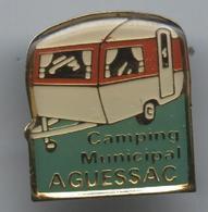 Pin's Camping Aguessac Aveyron Caravane Caravaning - Andere