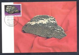 Greece 1960 Maximum Card: Minerals Mineralien Mineraux; Mining Bergbau; Chromite -  Iron Chromium Oxide - Mineralien