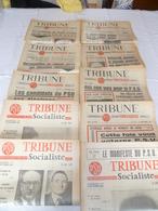 """Lot 25 Journaux """"tribune """" Socialiste Années 1961 Et 62 - Lots De Plusieurs Livres"""