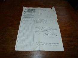 Document Commercial Facture Parfumerie Delettrez Bruxelles 1901 - 1950 - ...