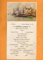 SS Pennland 1934 Menu & Postcard - Paquebote