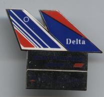 Pin's Avion Aviation Plane Airplane Air France Delta Air Lines - Aerei