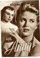 "SILVANA MANGANO In ""ANNA"" Italy 1951 Original German Film Program - Films & TV"