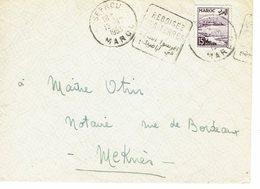 DAGUIN MAROC SEFROU SES CERISES SES LACS   DEVANT D ENVELOPPE    E92 - Morocco (1891-1956)