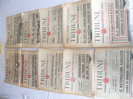 """Lot 10 Journaux """"tribune """" Socialiste Année  62 - Lots De Plusieurs Livres"""