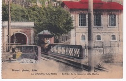 30  Gard -  LA GRAND'COMBE - Entrée De La Galerie Sainte-Barbe - La Grand-Combe