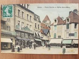 Dinan.place Duclos.toilée Couleur.édition Pimor Bazar - Dinan