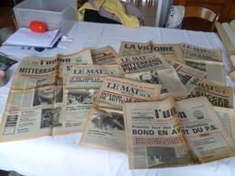 """Lot 10 Journaux """"élection François Mitterrand"""" 1981 - Lots De Plusieurs Livres"""