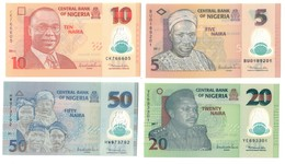 Nigeria UNC Lot Set 5 - 10 - 20 - 50 Naira 2011 .PL. - Nigeria