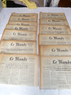 """Lot 20 Journaux """"le Monde Année 1960 - Books, Magazines, Comics"""