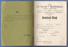 KONTROLLBUCH Ed.Horak'sche Musikschulen Ohne Eintragungen, 30 Seiten - Historische Dokumente