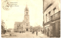 CPA ALENCON ( 61 ORNE) Place Et Eglise De Monsort ) Voyagée - Alencon