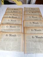 """Lot 30 Journaux """"le Monde Année 1961 - Lots De Plusieurs Livres"""