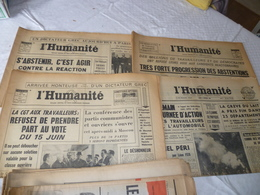 """Lot 4 Journaux """"l'humanité"""" 1969 - Livres, BD, Revues"""