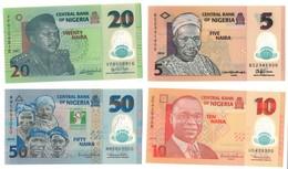 Nigeria UNC Lot Set 5 - 10 - 20 - 50 Naira 2007-2014 With Commemorative .PL. - Nigeria