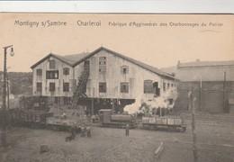 Montigny S/Sambre ,( Charleroi ), Fabrique D'agglomérés Des Charbonnages  Du Poirier ( Train ) - Charleroi