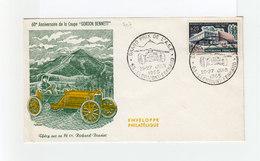 Enveloppe 60ème Anniversaire De La Coupe Gordon Bennett. Cachet Grand Prix De L'A.C.F. Juin 1965 Clermont Ferrand.(2189x - Automobile
