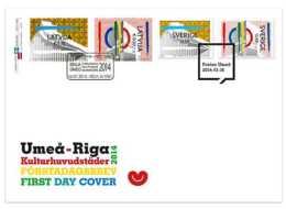 2014 Sweden And Latvia- Joint Issue - European Capitals Of Culture 2014 - Mixed FDC - MNH** - Gemeinschaftsausgaben