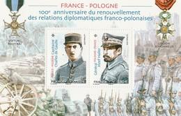 Blocs/Feuillets 2019 - France-Pologne - Neufs